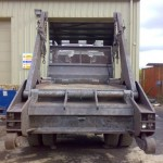 Rear Of Lorry After Blasting