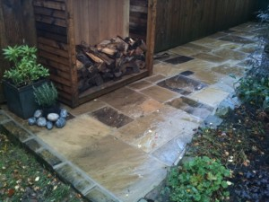 close up of clean flagstones