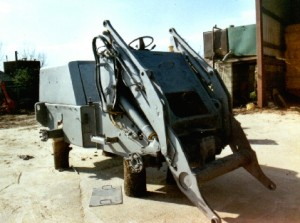 Volvo Digger after sandblasting