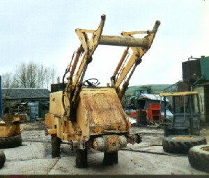 Volvo Loader before Blasting