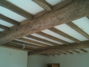 Living Room Beams After Cleaning