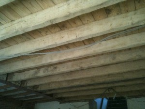 Kitchen Beams After Cleaning