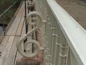 Repainted support detail
