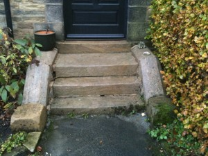 Sandstone Steps After Being Cleaned