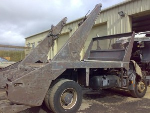Right Side of Lorry after Blasting