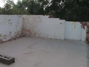 brick wall painted